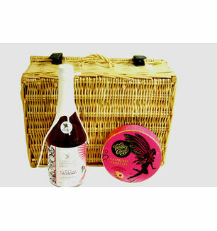 Tarquin\'s Cornish Rhubarb and Raspberry Gin and Raspberry Truffles Hamper