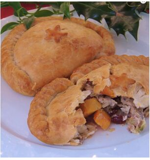 Chunk- Turkey, Ham and Cranberry Pasty
