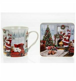 Mug And Coaster Gift Set -Colourful Father