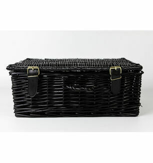 Black Wicker Hamper