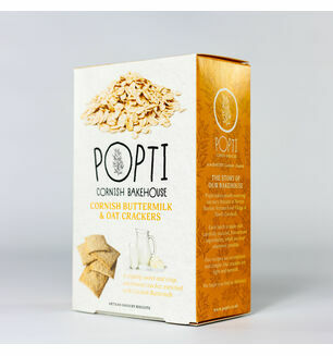 Popti Cornish Buttermilk & Oat Crackers