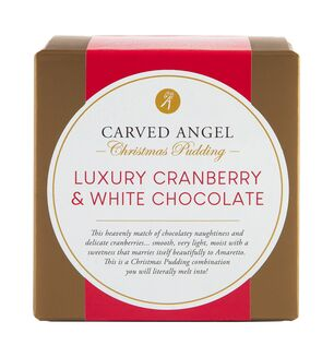 Luxury Cranberry & White Chocolate Christmas Pudding