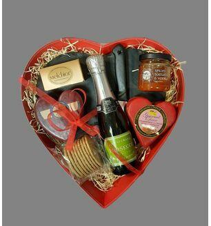 Valentine\'s Luxury Slate Cheese Board & Prosecco