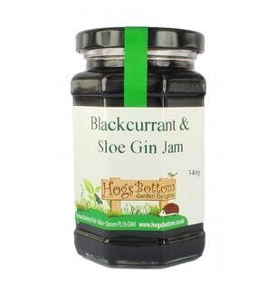 HOGS BOTTOM Blackcurrant & Sloe Gin Jam - 340G