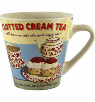 Vintage Design Clotted Cream Tea Mug