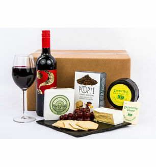 Devon Cheese & Red Wine Hamper