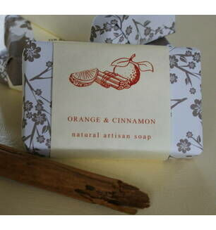 Orange & Cinnamon Hand Made Soap