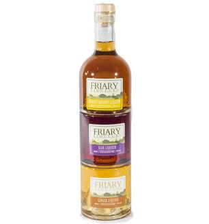 Friary Liqueurs Apricot Brandy,Ginger Liqueur & Sloe Liqueur 18%vol
