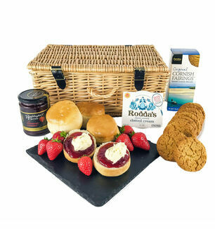 Cornish Cream Tea And Biscuits Hamper