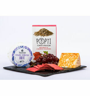 Cornish Cheese And Biscuit Hamper