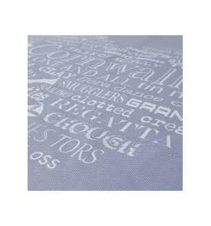 The Cornish Map Tea Towel Grey