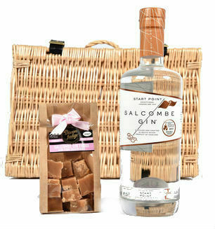 Salcombe Gin and Salcombe Gin and Pink Grapefruit Fudge Basket