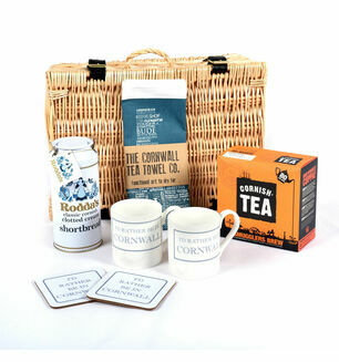 Cornish Tea and Tea Towel Hamper