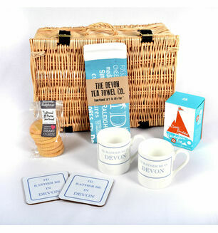 Devon Tea and Tea Towel Hamper