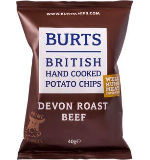 Burts Crisps-Devon Roast Beef 40g