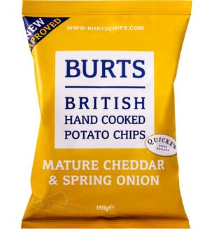 Burts Crisps - Vintage Cheddar and Onion 150g