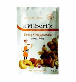Mr Filbert\'s Honey & Peppercorn Mixed Nuts - 50g