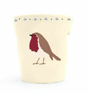 Cut-Out Robin Night Light Holder with Alpine Candle