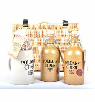 The Poldark Cider, Mug & Cornish Cream Fudge Hamper
