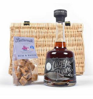 Lugger Rum and Rum Raisin Fudge Basket