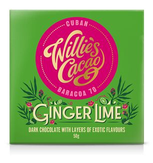 Willie Cacao Ginger Lime Chocolate