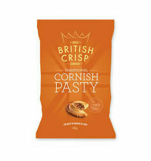 British Crisp Company Traditional Cornish Pasty Crisps - 40g