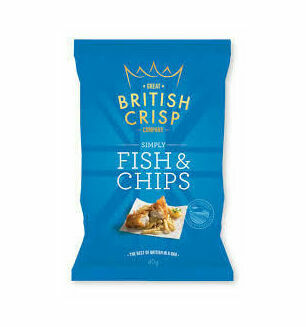 British Crisp Company Simply Fish & Chips Crisps - 40g