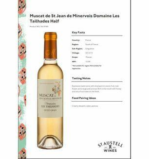 Muscat de St Jean de Minervos 2012/2013