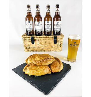 Cornish Lager & Steak Pasty Hamper