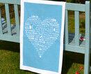 The Cornish Heart Tea Towel Blue additional 1