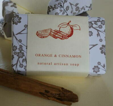 Orange and Cinnamon Handmade Soap