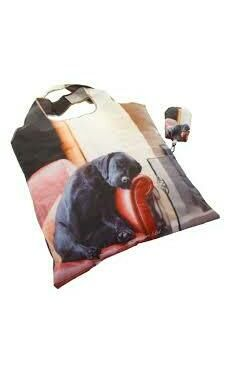 Black Labrador Fold Away Bag