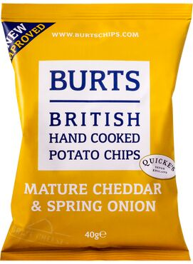 Burts Crisps-Mature Cheddar & Spring Onion 40g