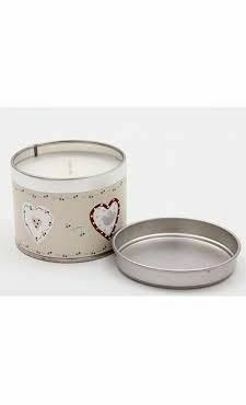 Pale Heart Scented Candle