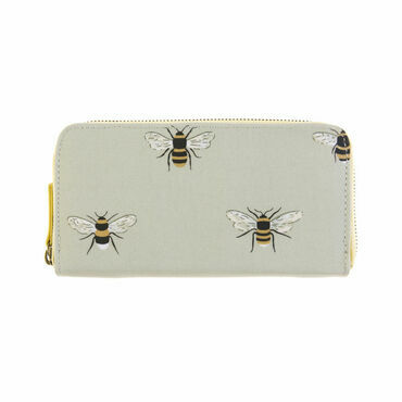 Sophie Allport Bees Oilcloth Zipped Wallet Purse