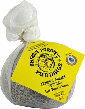Georgie Porgie Lemon and Pimms Pudding