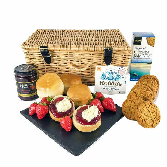 Cornish Cream Tea And Biscuits Hamper