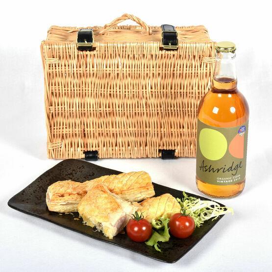 Cornish Sausage Roll & Devon Cider Picnic Basket
