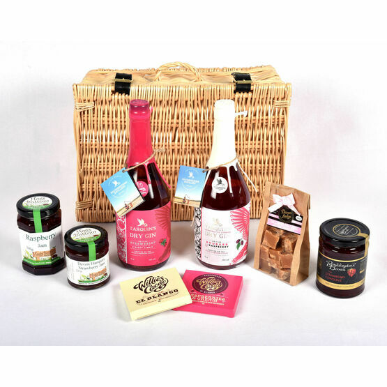 Cornish and Devon Strawberry and Raspberry Gin Hamper