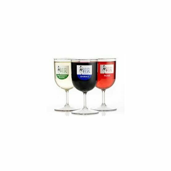 Intrepid Fox Red, White and Rose Wine in Glasses -187ml Servings