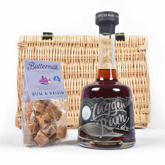 Lugger Rum and Rum Raisin Fudge Basket