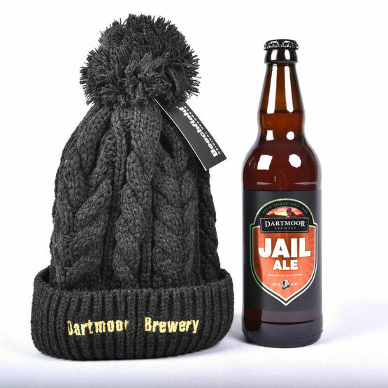 Dartmoor Brewery Chunky Ribbed Beanie Hat and Jail Ale