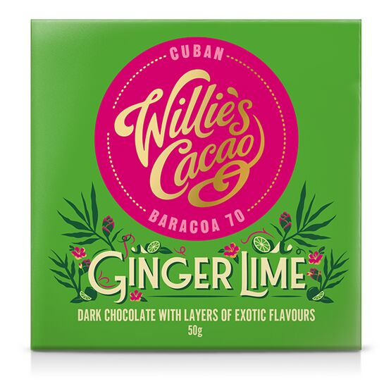 Willies Cacao Ginger Lime Chocolate