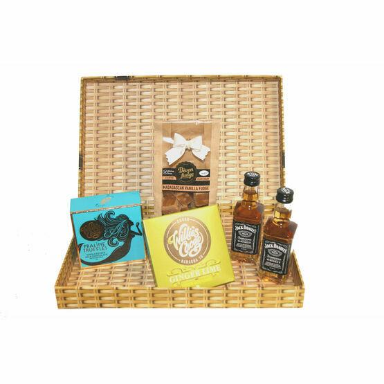 Devon Chocolate, Fudge & Whiskey Letter Box Gift
