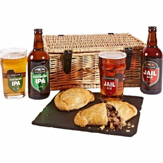 Pasties, Pints and Glasses Hamper